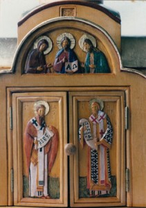 Artophorion · Tabernacle. Carved and polychromed limewood, gilding