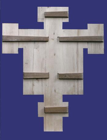 Back of a cross panel