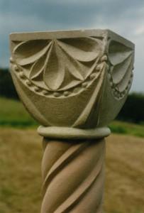 Column. Sandstone Shrewsbury, UK