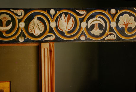 Detail of icon screen. Egg tempera on wood