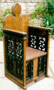 Episcopal throne. Oak