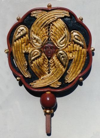 Exapteriga. Polychromed wood, gold