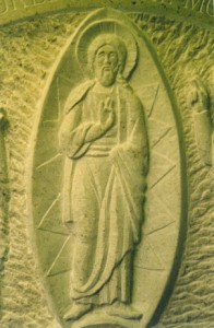 Gravestone. Hoptonwood limestone