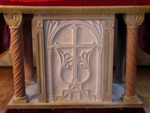 Limestone and sandstone altar