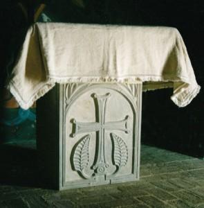Limestone Church of Agia Skepi, Evia, Greece