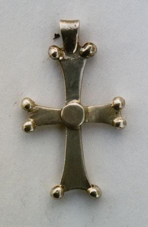 Neck cross. Sterling silver