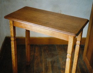 Oak table for relics