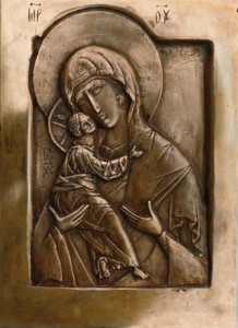 Our Lady of Vladimir. Bronze, cast from a limewood carving