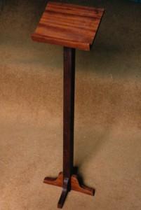Reading stand. Recycled mahogany