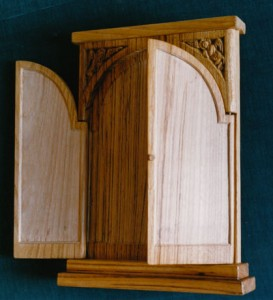 Triptych panel. Limewood