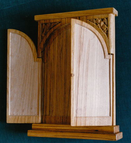Triptych panel. Limewood