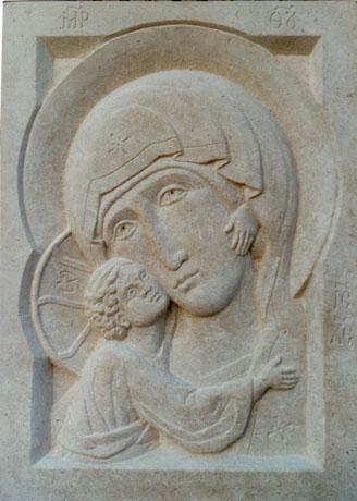 Vladimir Mother of God. Bath stone
