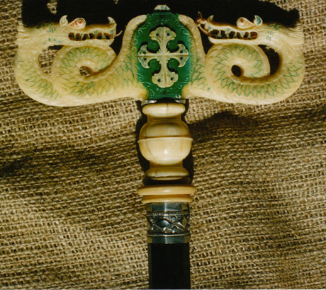 Abbatial staff, detail.