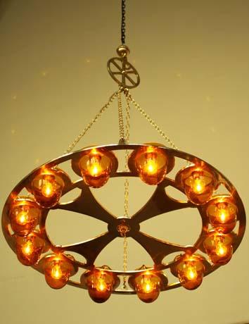 Brass 12 Lamp Chandelier 2