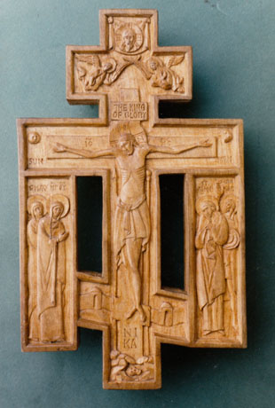 Crucifix cherry wood