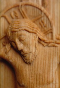 Crucifix, detail of previous. Limewood