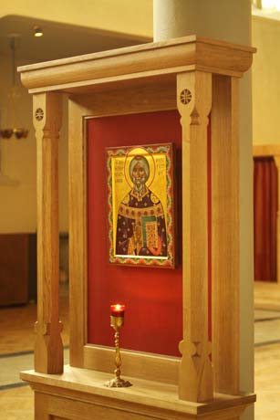Icon throne made in oak