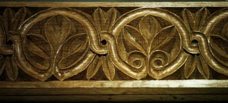 Iconostasis, detail. Oak.