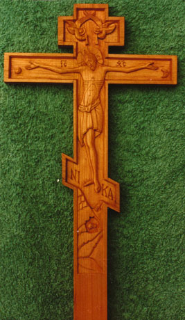 Priest's blessing cross – Cherry wood