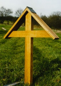 Simple grave cross.