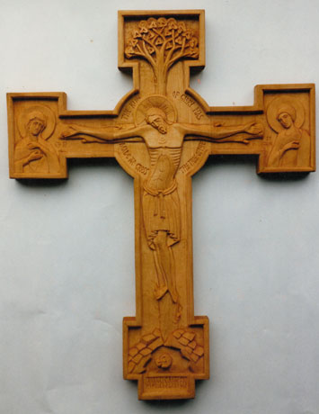 Tree of Life crucifix – Limewood