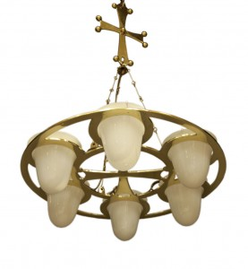 New brass chandelier