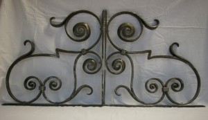 Wrought iron screen (detail)
