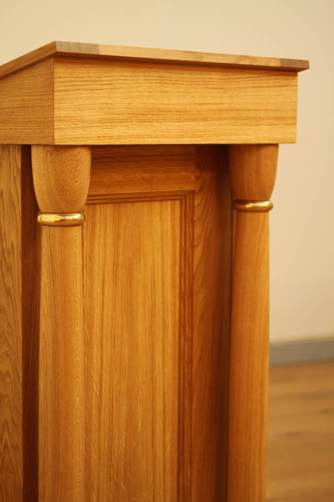Lectern, Fisher House, detail