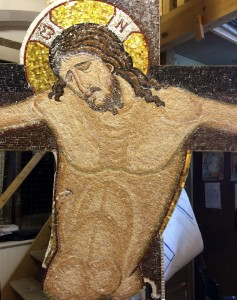 jesus christ crucified mosaic