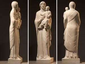 Limestone carving of the Virgin Hodegetria