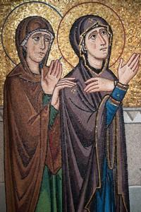 crucifixion-mary-and-mary-magdalene-mosaic-byzantine