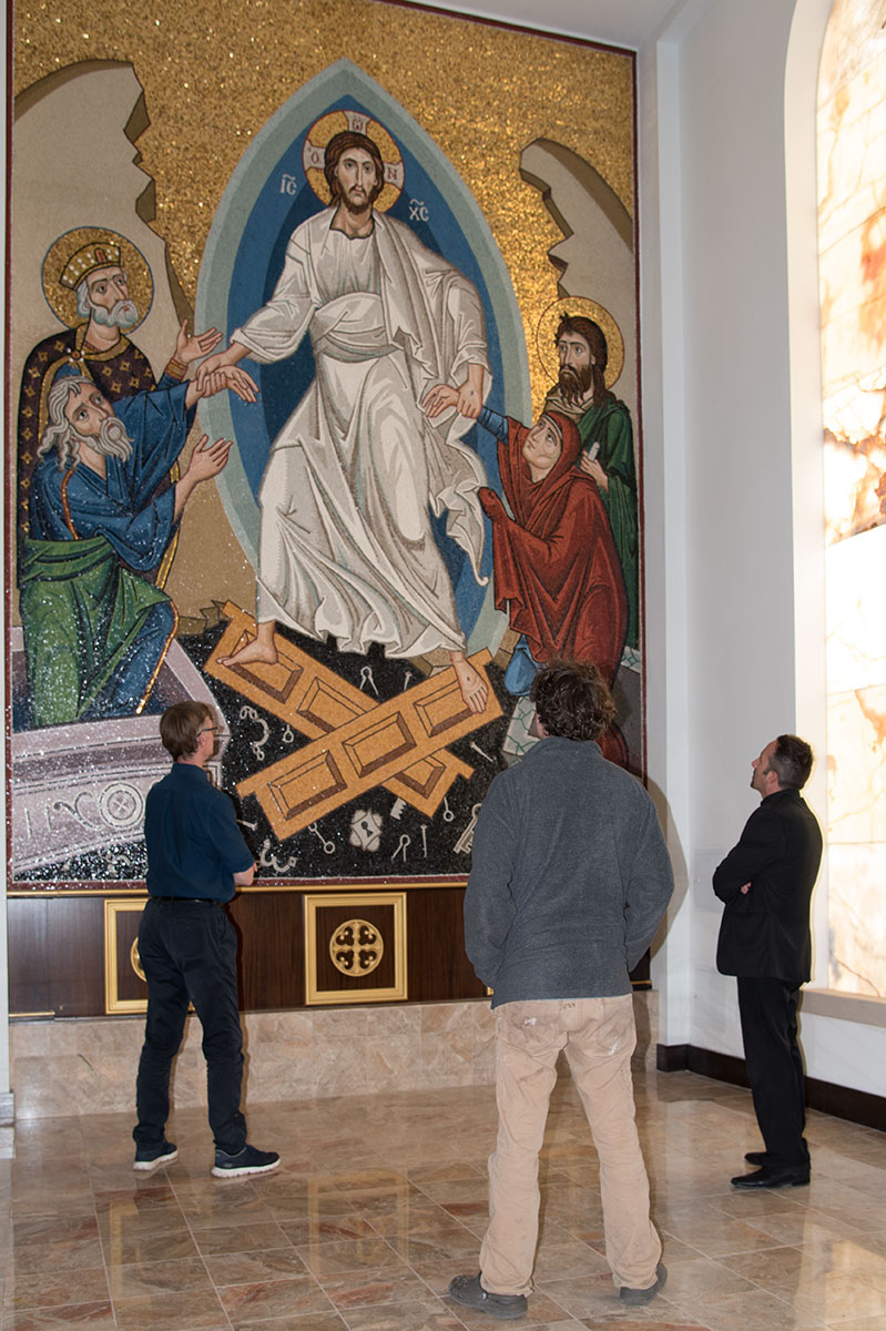 Completed mosaics for St George's Orthodox Church, Houston, Texas