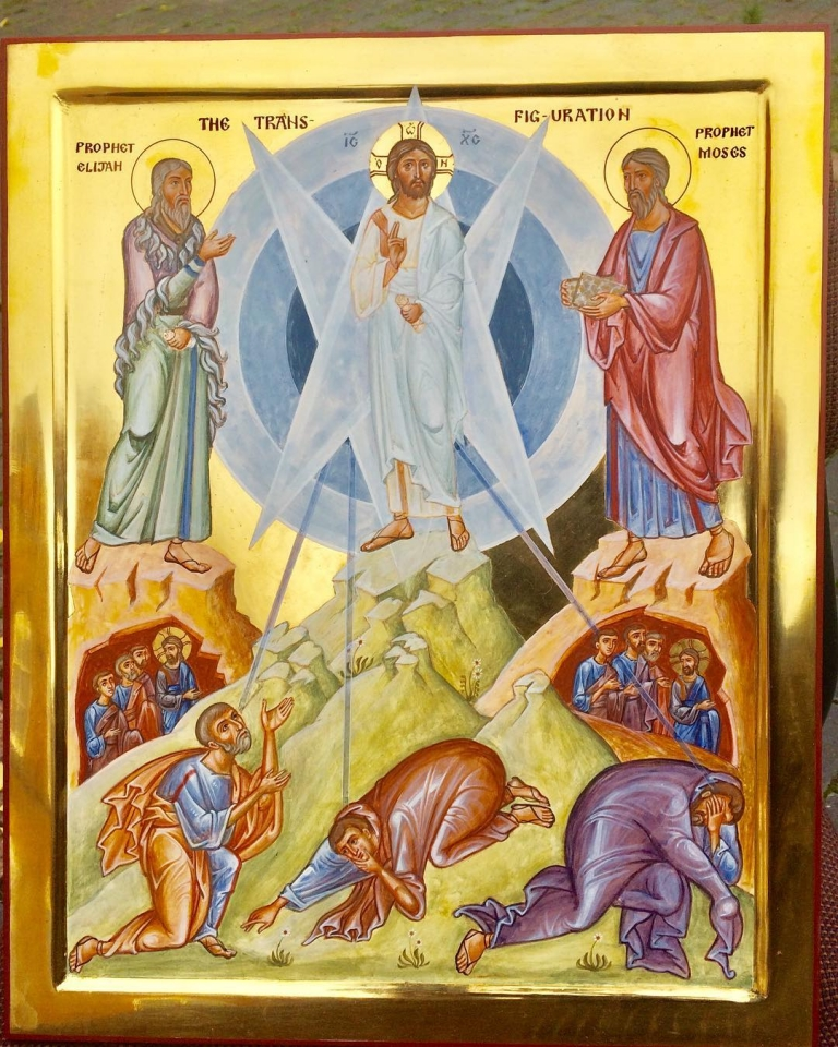 Just finished this icon of the Transfiguration. Christ shows us…
