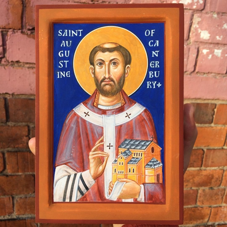 St Augustine of Canterbury. Just finished painting it – destined…