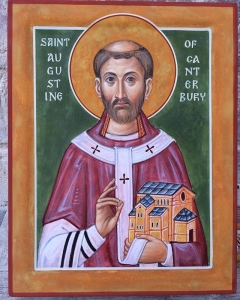 Here is the most recent work, an icon of St Augustine of Canterbury, commissioned by the Archbishop of Canterbury's office as a gift#augustine of Canterbury
