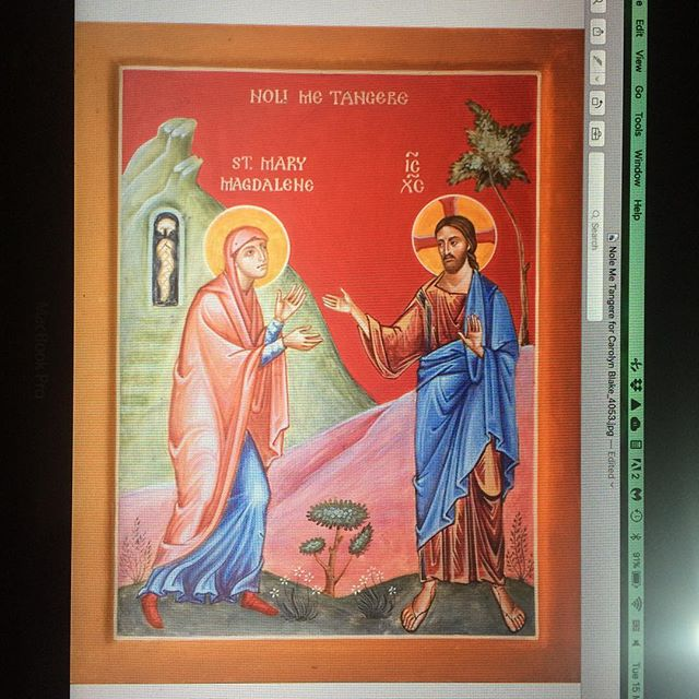 Here is a recent icon, Noli Me Tangere. Mary mistook…
