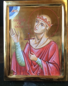 Here's an icon is St Osgyth I've just finished. She is an Anglo Saxon Saint, d. 700 AD, who founded a convent in Chick/Chich. Pray for us St Osgyth!