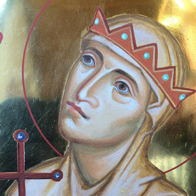 Detail of St Osgyth's icon