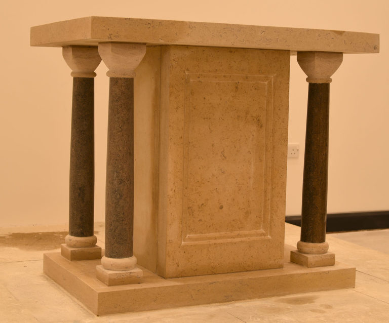 Stone altar for Theodore House, The Christian Heritage Centre, Stonyhurst