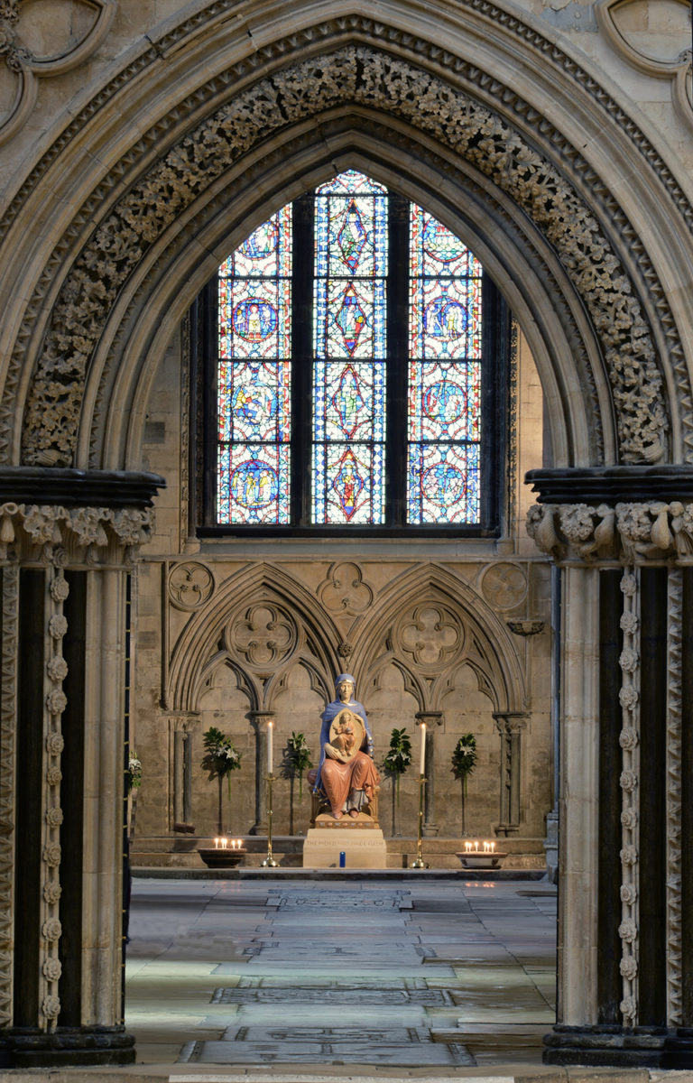 Our Lady of Lincoln, view from aisle. Photo by Jim…