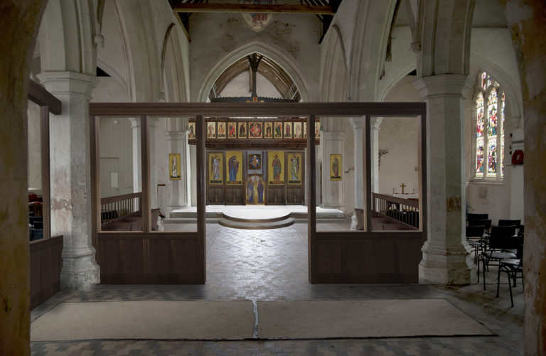 St Martins Colchester, proposed nave narthex screen.