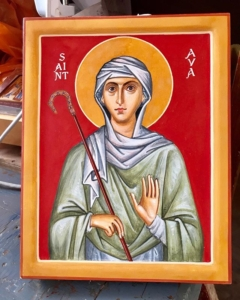 Here is my latest icon, of the 9th century Saint Ava. The icon commemorates the newly born child of God Ava of Ontario. Many years!
