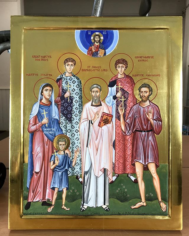 Greetings all. Here is a recent icon, for the beloved…