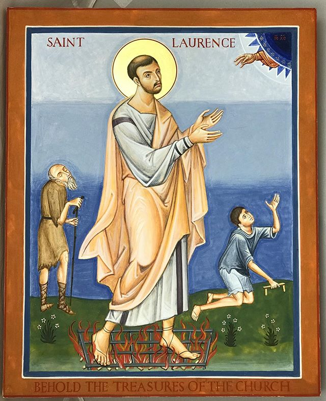 Here is a recent icon of St Laurence that I've…