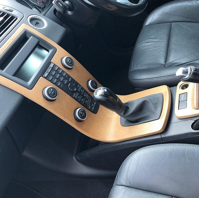 The Volvo interior.