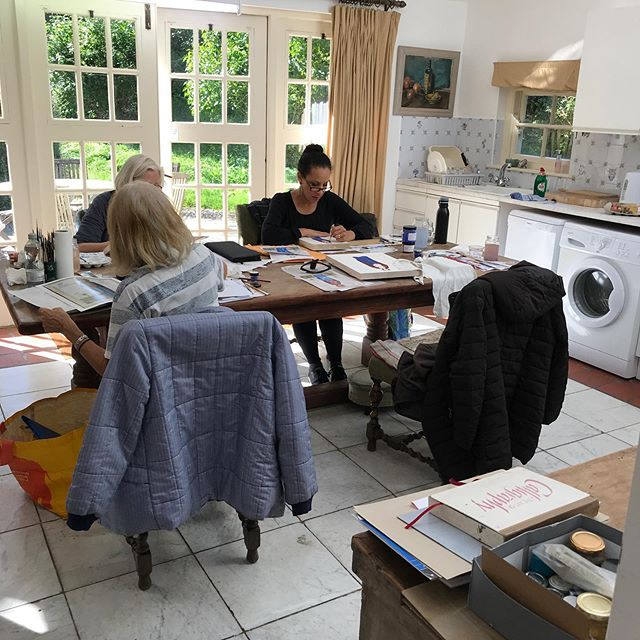 My five-day icon course at Walcot Hall, Shropshire. Students from…